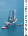 Image of oil platform with color tone 20961256