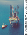 Image of oil platform with color tone 20961258