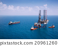 Image of oil platform with color tone 20961260
