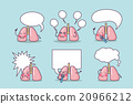 Happy lung cartoon with billboard 20966212