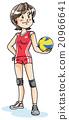 vector, vectors, volleyball 20966641