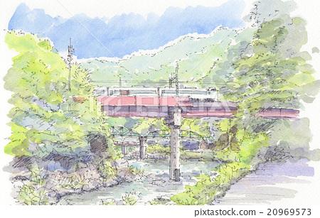 武庫川 계곡 JR 다케다 오 역 부근 20969573