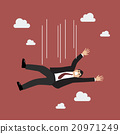 Businessman falling 20971249