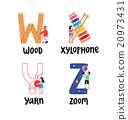 Alphabet letters w to z 20973431