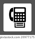 Fax Rounded Square Button 20977175