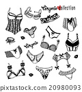 Collection of doodle women lingerie 20980093