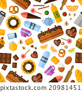 Pastry and bakery seamless pattern 20981451