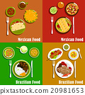 Mexican and brazilian cuisine dishes 20981653