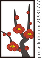 日本纸牌 梅 花朵 20981777