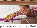 woman makes cleaning 20983641
