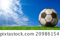 Football - Soccer Ball with Green Grass 20986154