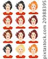 Set of beautiful women portraits 20988395