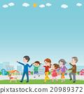 家庭 矢量 三代人 20989372