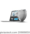 security, escutcheon, laptop 20989850