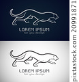 Vector image of an panther design 20991871
