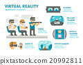 Flat design virtual reality infographic 20992811