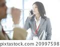 女性 電話 工作 20997598