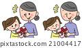 孫子或孫女 奶奶 幸福 21004417