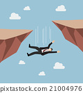 Businessman falling abyss 21004976