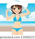 Woman Bikini Beach Hat 21006223