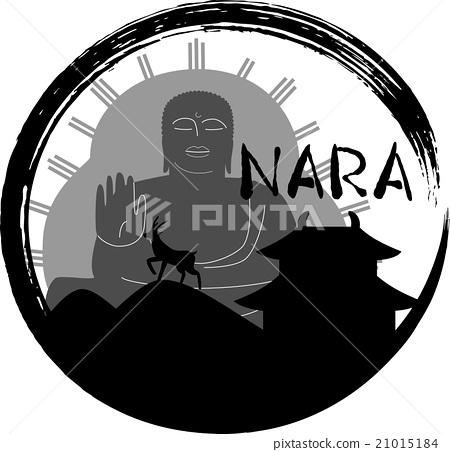 奈良剪影圈羅馬化符號 21015184