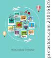 travel around the world background, 21016826
