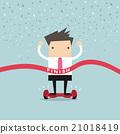 Businessman Winner on Self-balancing electric 21018419