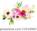 Flowers watercolor illustration. 21018902