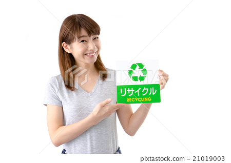 Young lady (recycle mark) 21019003