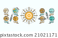 Solar System Icon Flat Design Style 21021171