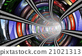 Wormhole with video wall 21021313