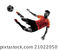 Soccer player Man Isolated silhouette 21022050