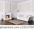 Classic interior of living room with sofa 3d  21023700