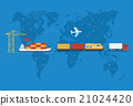 Shipping, Delivery Car, Ship, Plane 21024420