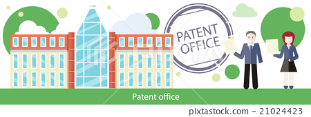 Patent Office Concept in Flat Design 21024423