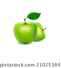 Photo-realistic image of green fresh apple 21025364