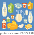 Dairy products isolated, vector illustration 21027130