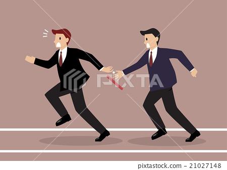 Businessman fail to passing the baton 21027148