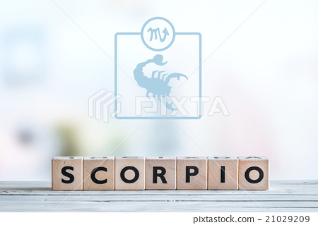 Scorpio star sign on a table 21029209