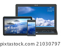 modern laptop, tablet and smartphone 21030797