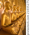 Alignment of Buddhas statues. 21035275