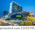 Traffic crossroads in Bangkok 21035795