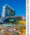 Traffic crossroads in Bangkok 21035796