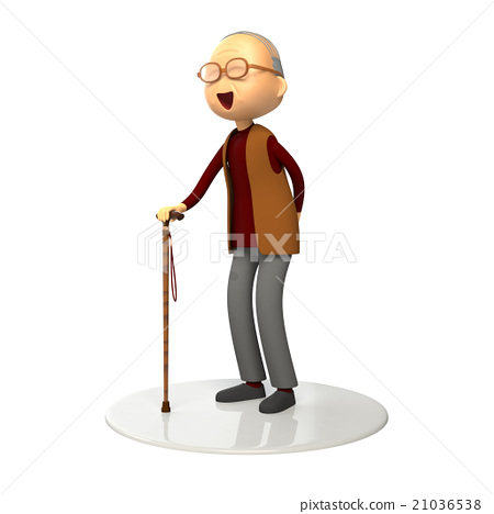 An old man with a cane 21036538