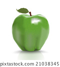 green, isolated, ripe 21038345