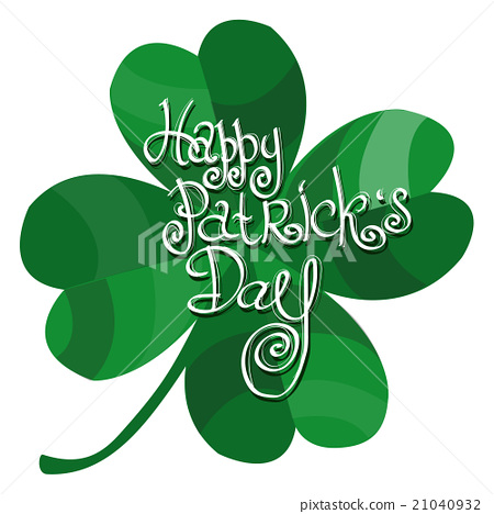 Four-leaf clover. St. Patrick's Day. - Stock Illustration ...