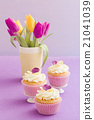cupcakes tulips decoration 21041039