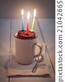 Mug cake with candle 21042665