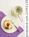 Slice of marble cake 21043139