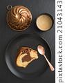 Slice of marble cake 21043143